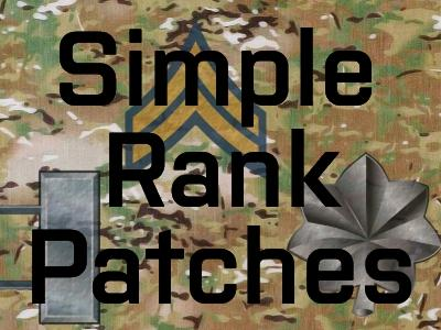 Simple Rank Patches | Make Arma Not War